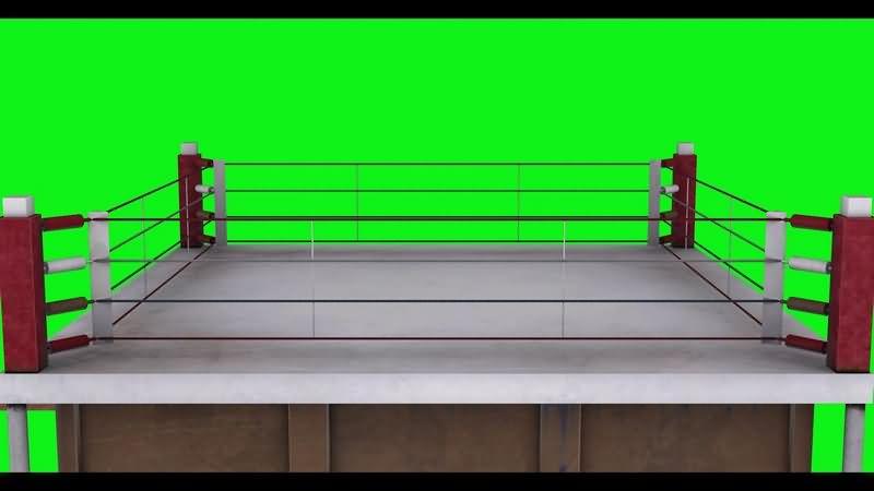 绿幕视频素材拳击擂台