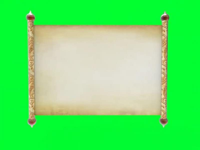 绿幕视频素材卷轴