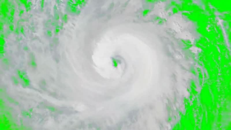 绿幕视频素材飓风