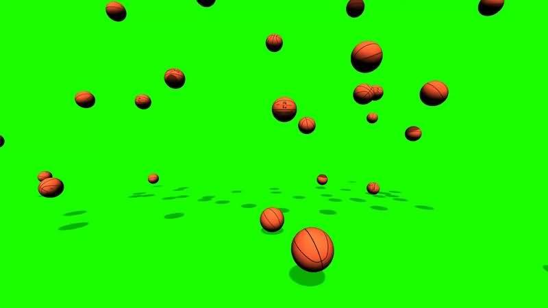 绿幕视频素材篮球