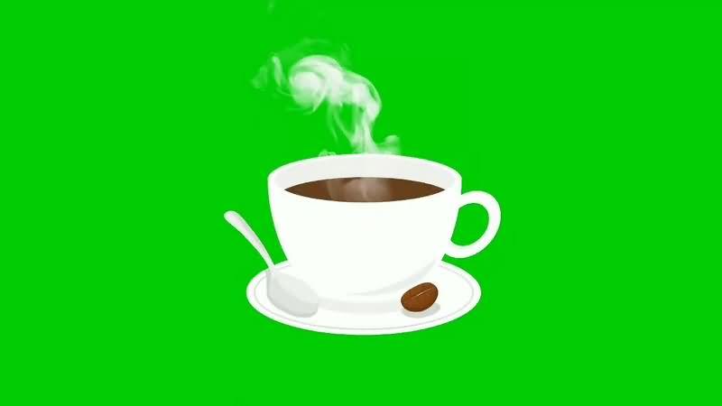 绿幕视频素材咖啡