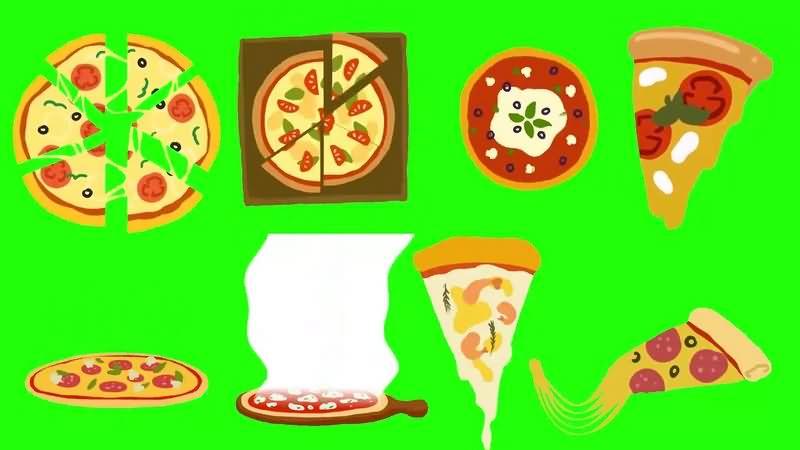 绿幕视频素材披萨饼