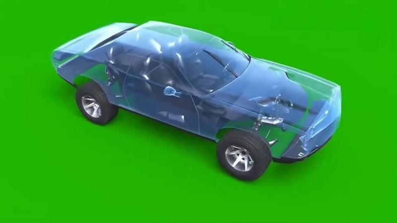 绿幕视频素材汽车零件