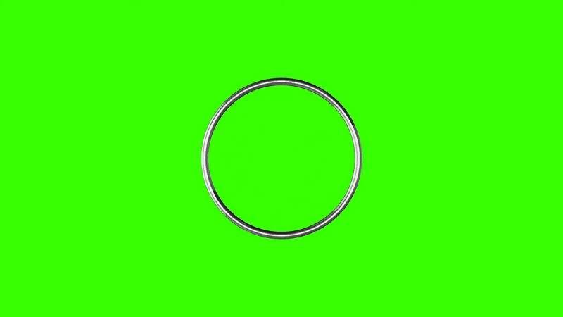 绿幕视频素材金属环