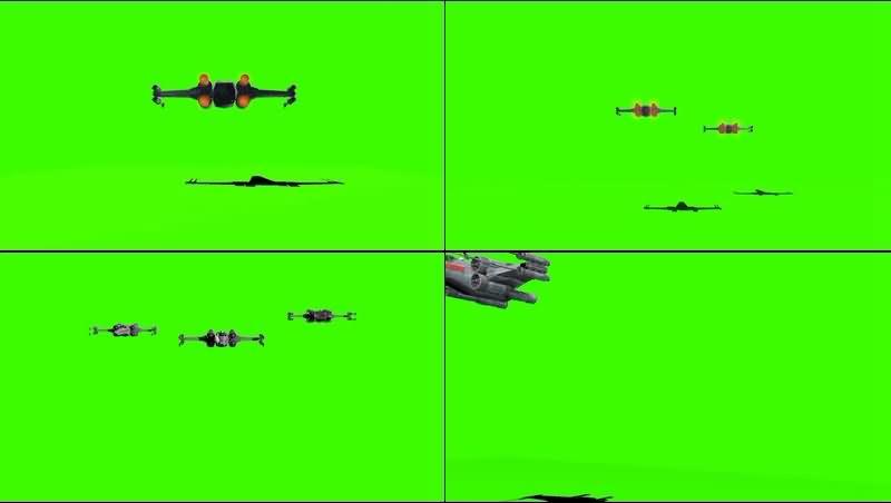 绿幕视频素材T-65 X翼星际战斗机