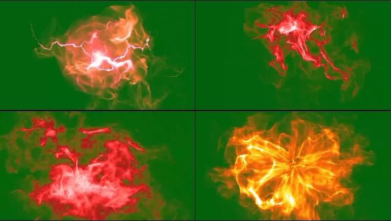绿幕视频素材红魔法