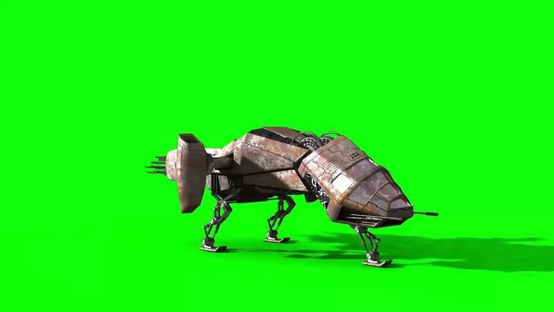 绿幕视频素材太空飞船