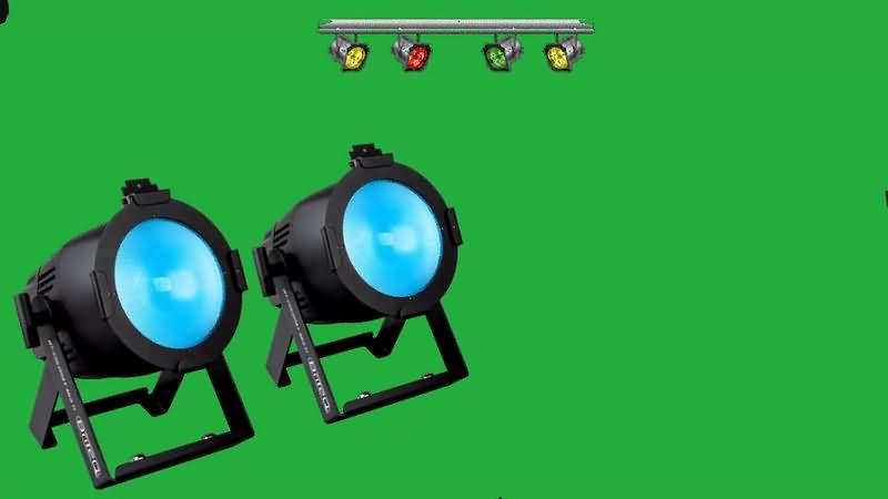 绿幕视频素材舞厅射灯