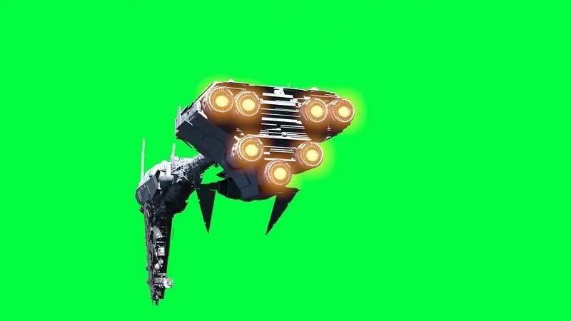 绿幕视频素材星际护卫舰