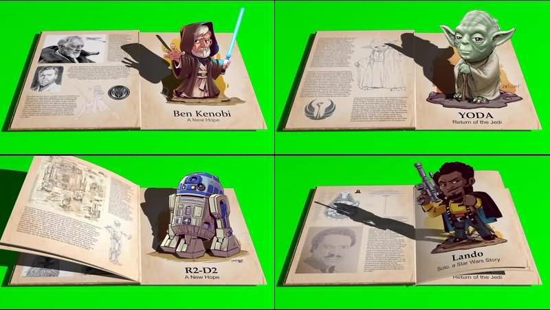 绿幕视频素材星球大战画册