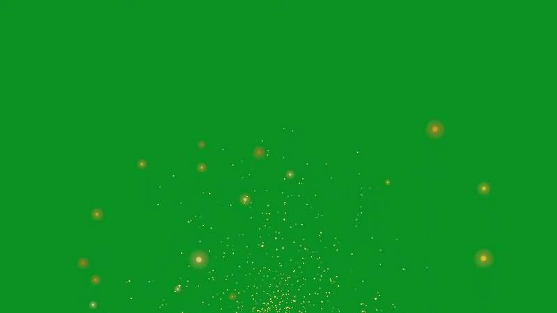 绿幕视频素材火星火花