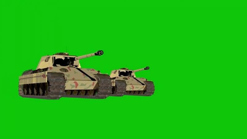 绿幕视频素材坦克
