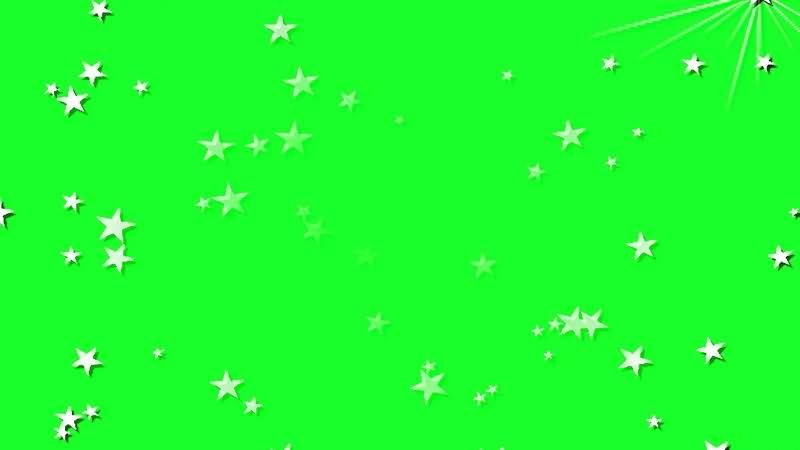 绿幕视频素材星星