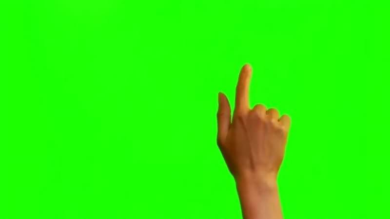 绿幕视频素材真人手势