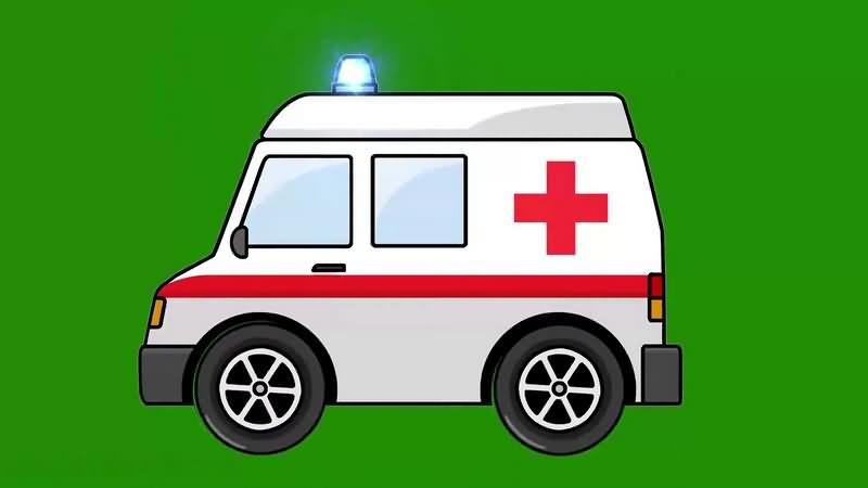 绿幕视频素材救护车