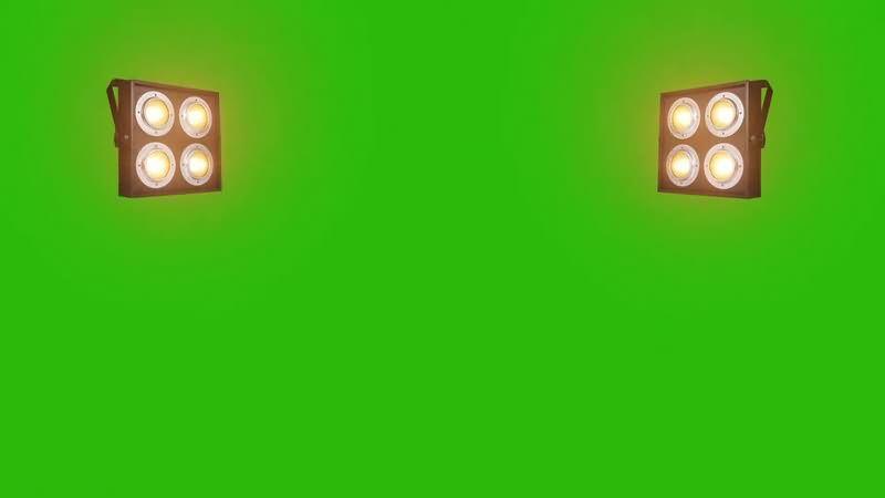 绿幕视频素材照明灯