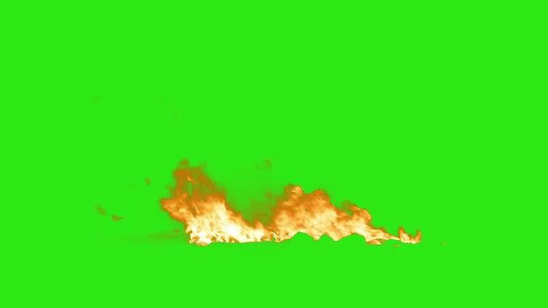 绿屏抠像各种燃烧的火焰