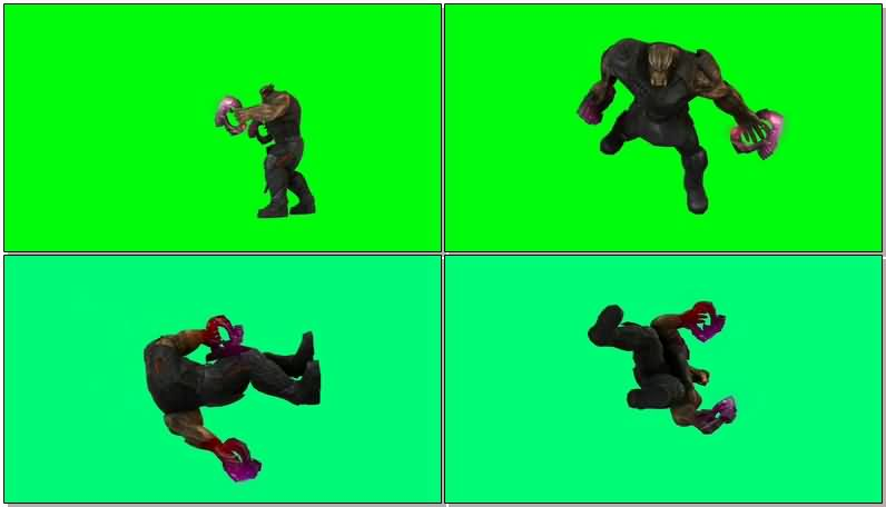 绿屏抠像灭霸手下黑曜猎手视频素材