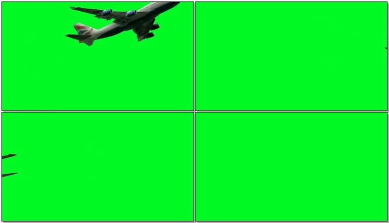 绿屏抠像飞行客机战斗机视频素材