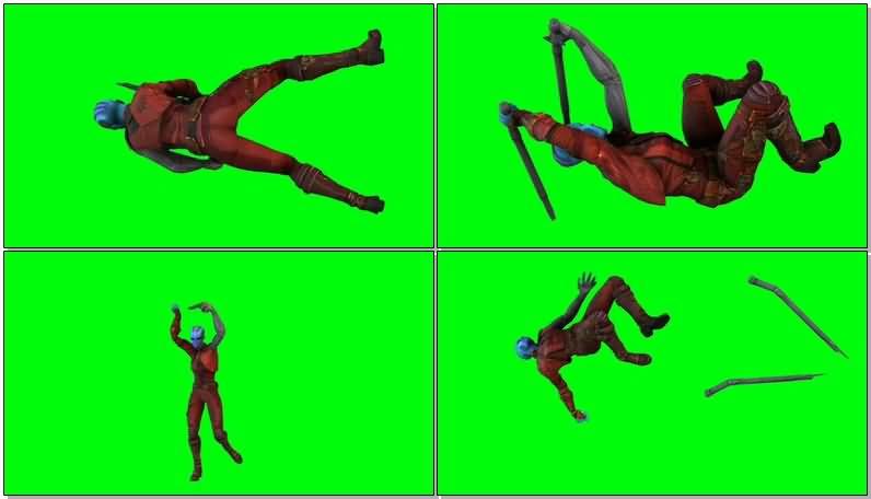 绿屏抠像银河护卫队女反派星云视频素材