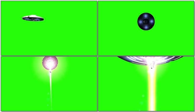 绿屏抠像外星飞碟吸入人类视频素材