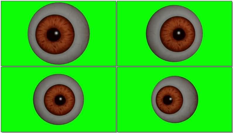 绿屏抠像旋转的眼球视频素材