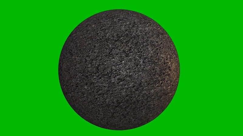 绿屏抠像旋转的异类星球视频素材