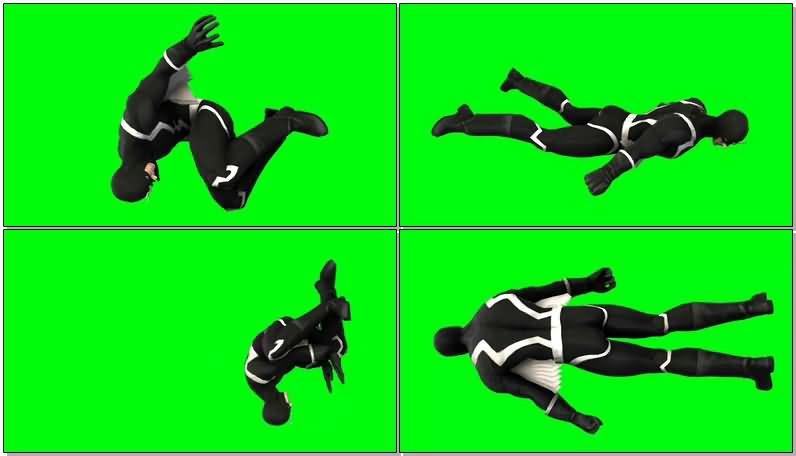 绿屏抠像漫威人物黑蝠王视频素材