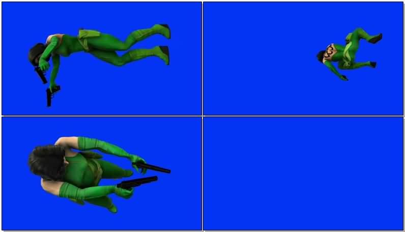蓝屏抠像漫威旗下反派人物蝰蛇视频素材