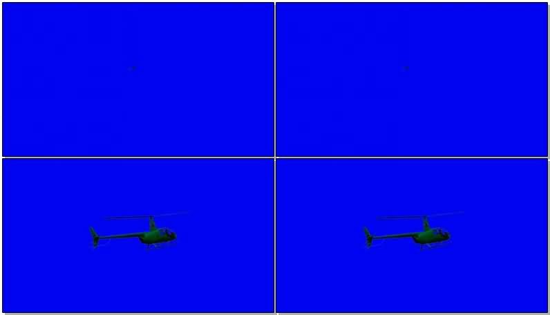 蓝屏抠像直升飞机视频素材
