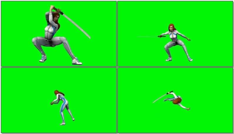 绿屏抠像漫威英雄科琳温视频素材