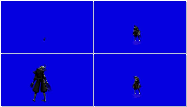 蓝屏抠像僵尸钻地挖地视频素材