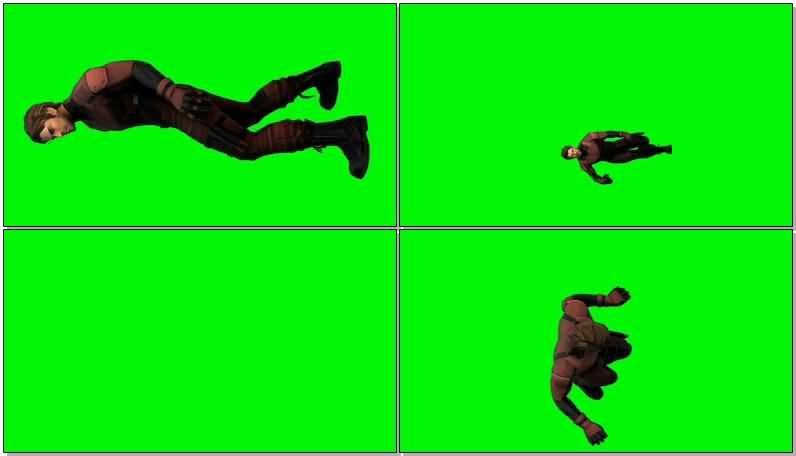 绿屏抠像漫威人物超胆侠视频素材