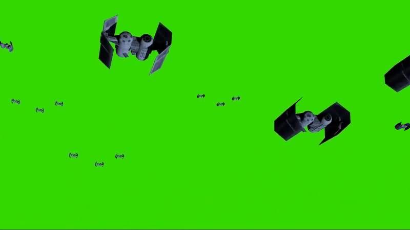 绿屏抠像外星战舰飞船视频素材