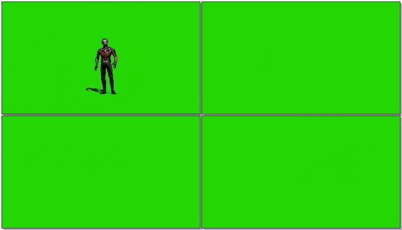 绿屏抠像漫威人物蚁人视频素材