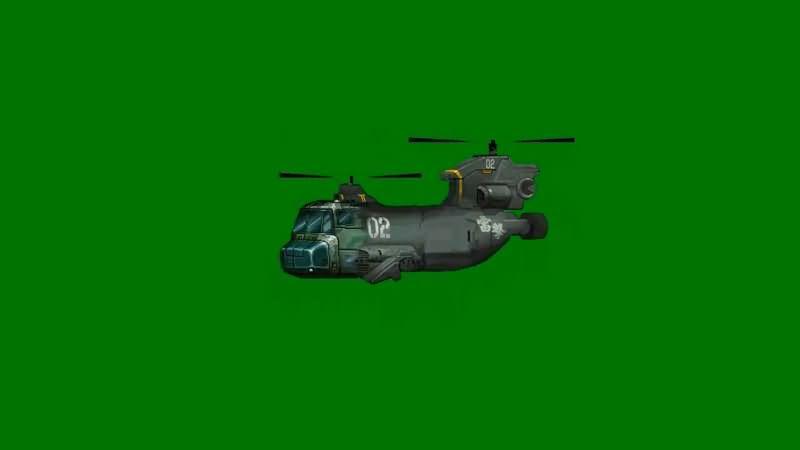 绿屏抠像卡通3D运输飞机视频素材