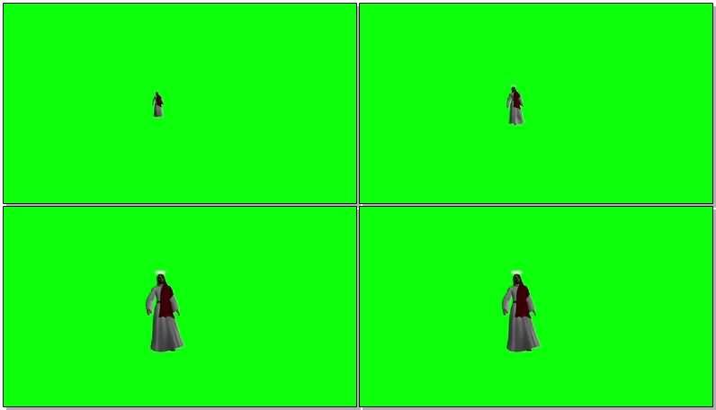绿屏抠像耶稣上帝视频素材