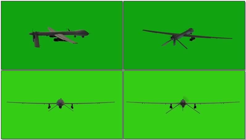 绿屏抠像无人轰炸机视频素材
