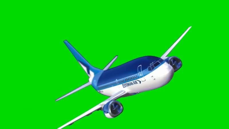 绿屏抠像航空客机视频素材