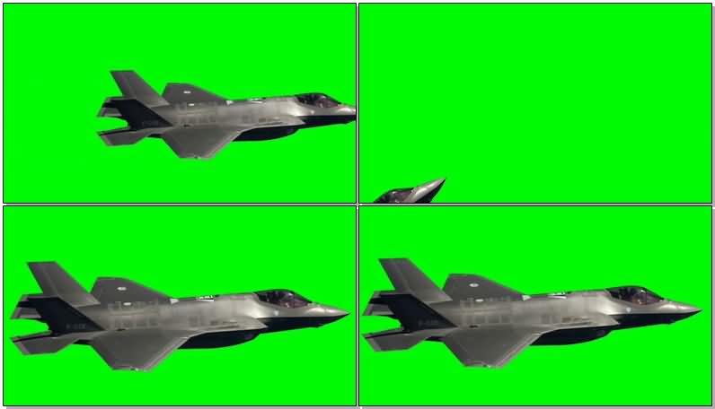 绿屏抠像喷气式战斗机视频素材