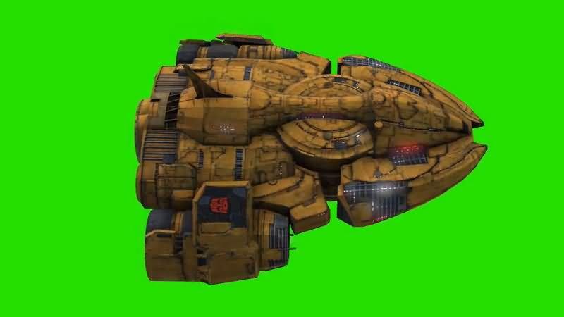 绿屏抠像变形金刚汽车人飞船视频素材