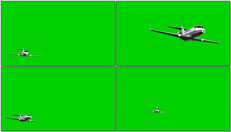 绿屏抠像私人喷气飞机视频素材