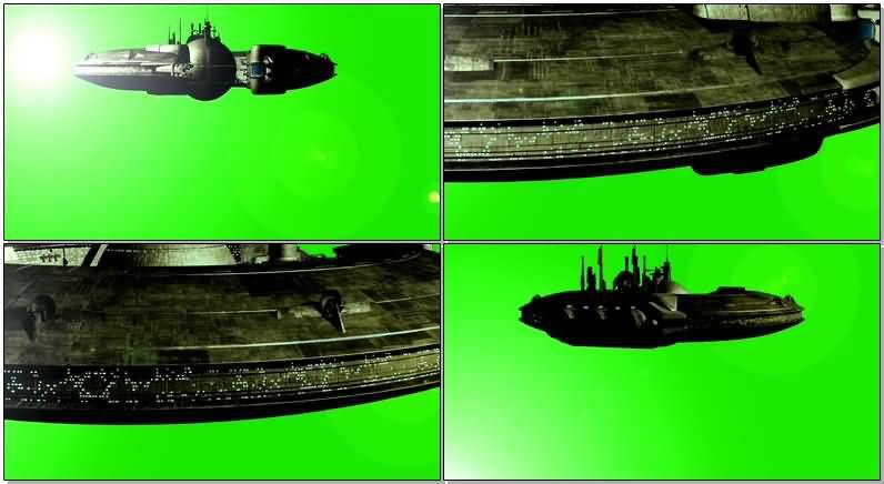 绿屏抠像大型UFO飞碟视频素材
