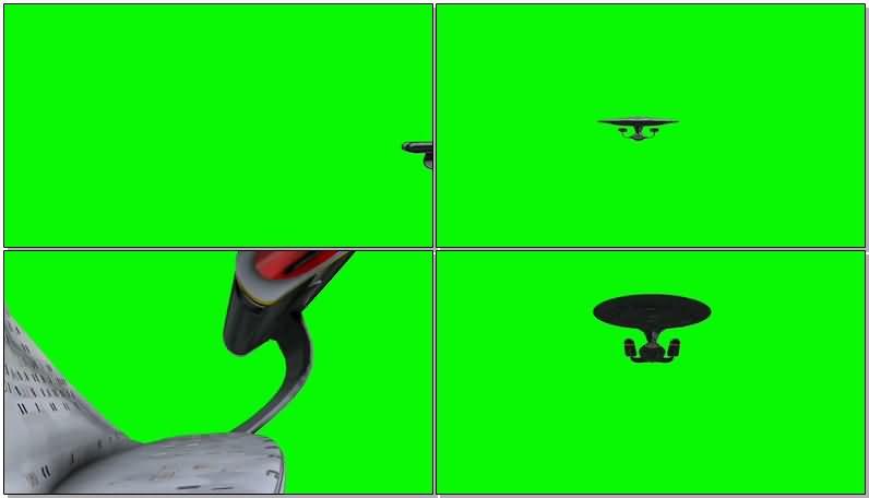 绿屏抠像宇宙飞船战舰视频素材