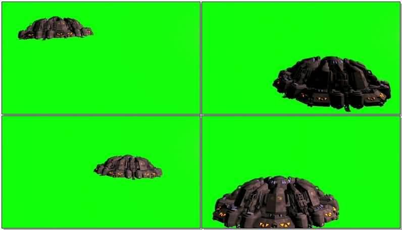 绿屏抠像大型UFO外星飞碟视频素材