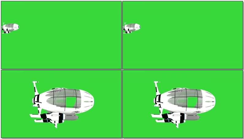 绿屏抠像热气球飞船视频素材