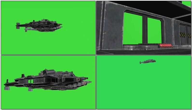 绿屏抠像太空战舰视频素材