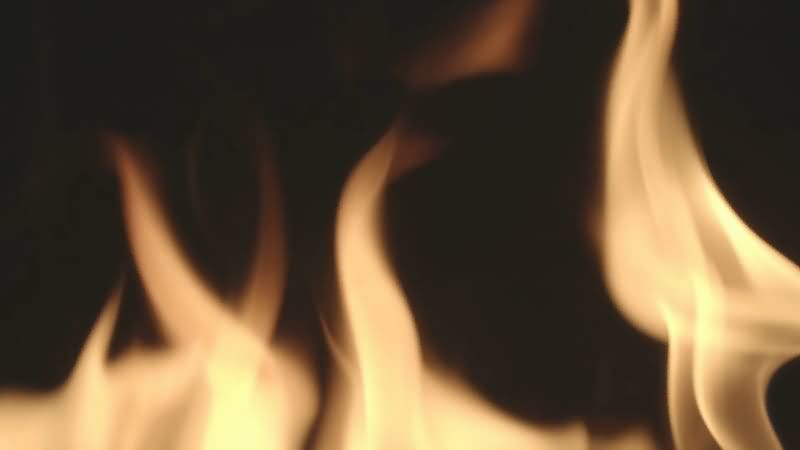 [4K]燃烧的火焰火苗视频素材
