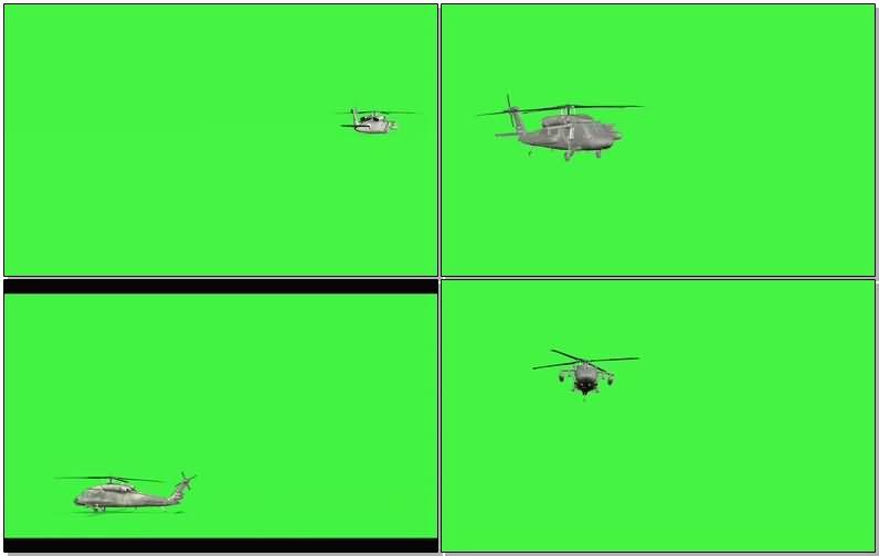 绿屏抠像直升飞机视频素材