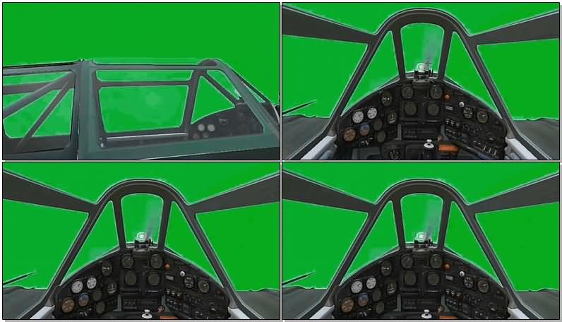 绿屏抠像开飞机视频素材